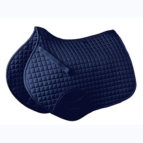 Roma Mini Quilt Shaped Saddle Pad Navy
