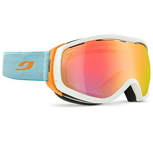 Julbo Damen Skibrille, Blanc/Orange/Turquoise, L