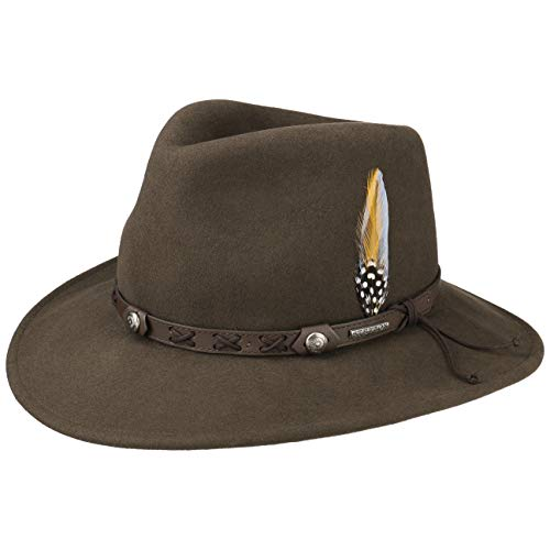 Stetson Chapeau Vail Outdoor VitaFelt Hiver Chapeaux d´Exterieur (M (56-57 cm) - Marron)