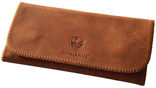 GERMANUS Estuche Bolsa Bolso de tabaco de cuero genuino, Made in EU - Albrunus