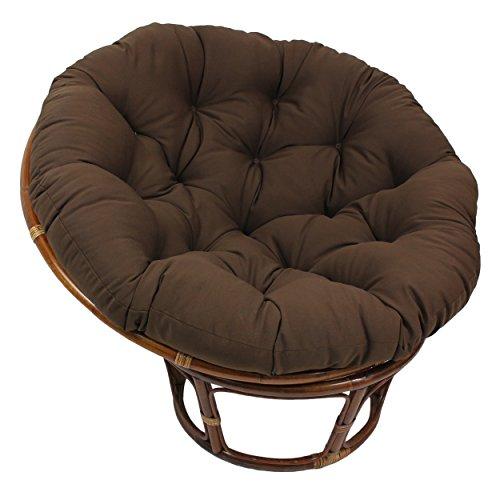 Blazing Needles Solid Twill Papasan Chair Cushion, 48' x 6' x 48', Black
