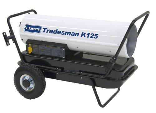 L.B. White CP125CK Tradesman K125 Portable Forced Air Kerosene Heater, 125,000 Btuh