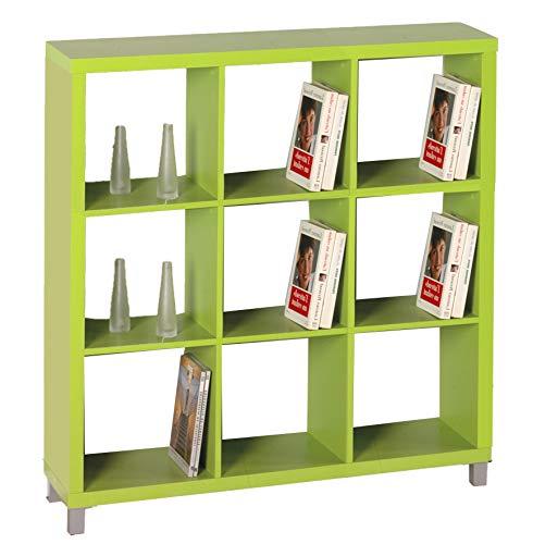 "Kit Closet Estantería ""Kubox"" 9 huecos verde"