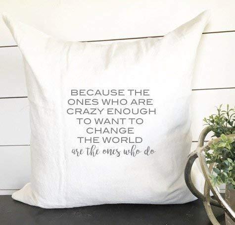 N\A Changer Le Monde taie d'oreiller taie d'oreiller Inspiration décor Inspiration Cadeau Mariage Cadeau Citation Oreiller décor à la Maison