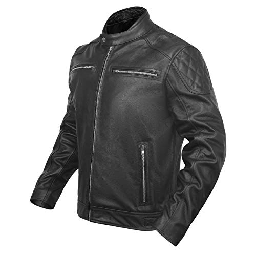 ACG ALP-02 LEATHER MOTORCYCLE JACKET (BLACK