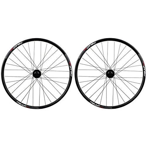 GJZhuan 20' Rueda BMX Plegable Juego de Ruedas, Doble Capa Llanta Aluminio V-Brake/Disco de Freno 32 Agujeros de Bicicletas Delantero/Trasero Wheelset [con Cámara de Bicicleta, Cubiertas]