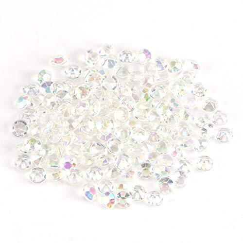Nikou Acrylic Beads - 1000Pcs/Bag 4.5mm Clear Acrylic Beads Vase Filler Wedding Party Decor DIY Accessories (Color : Colorful)