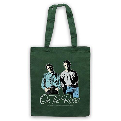 My Icon Art & Clothing Jack Kerouac On The Road 4 Umhangetaschen, Dunkelgrun