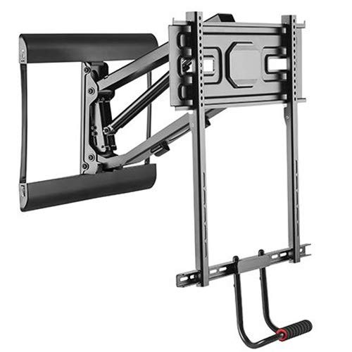 Impact Mounts Above Fireplace Pull-Down Full-Motion TV Wall Mantel Mount 77lbs for 43' to 70'