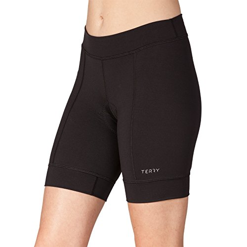 Terry Actif Women's Padded Cycling Shorts - Best Fitting Best Value Comfort Chamois Cycling Shorts - Black - Medium