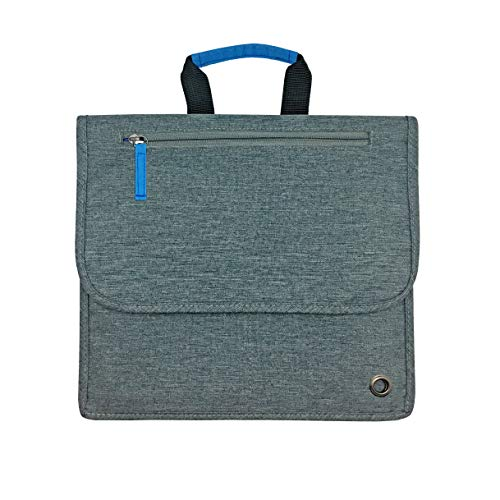So-Mine Commuter Essential Travel Organizer Designed for Airplane or Car Backseat Pockets, The Perfect Travel Accessory, 6 Pockets, 2 Cable Loops and 1 Zip Pocket (Charcoal Cobalt)