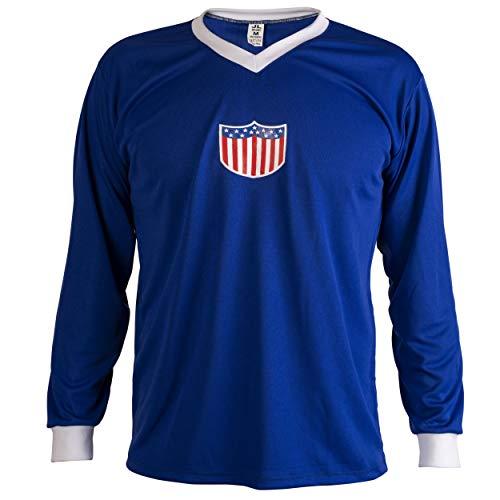 JL Sport Estados Unidos Fútbol Camiseta Retro Hombrega Larga para Hombre - L