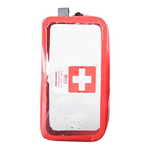 Leezo PVC Transparent Kit de Premiers Soins Vide Boîte médicale d'urgence Portable Voyage Camping en Plein air Survie Sac médical Grande capacité Voyage/Voiture