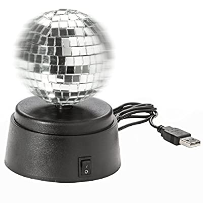 USB mirror ball disco ball self rotating mirror ball gadget lamp for disco flair