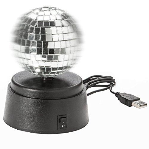 USB-spiegelbal discobal zelfdraaiende spiegel bal gadget lamp voor disco flair