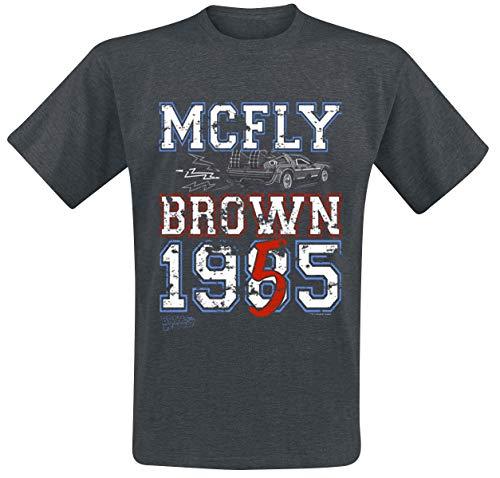 Zurück in die Zukunft MC Fly 1955 T-Shirt grau meliert M