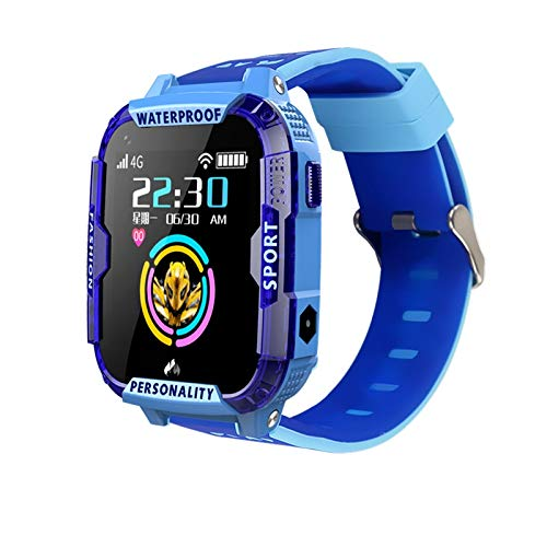 ZTYY Smart Watch 4G Android Kids GPS Global Version SIM WiFi Pulsera Teléfono Niños Digital Connected Watch iOS Francés en un imán (Color : Russian Blue, Size : Use in European)