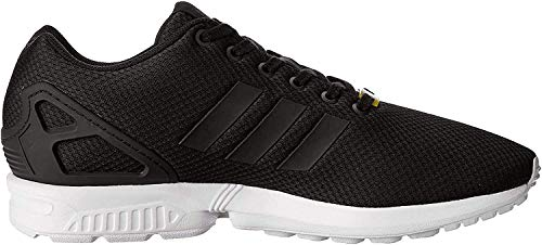 adidas Originals ZX Flux, Unisex-Erwachsene Low-top Sneakers, Schwarz (Core Black/Core Black/White), 40 2/3 EU (7 Unisex-Erwachsene UK)