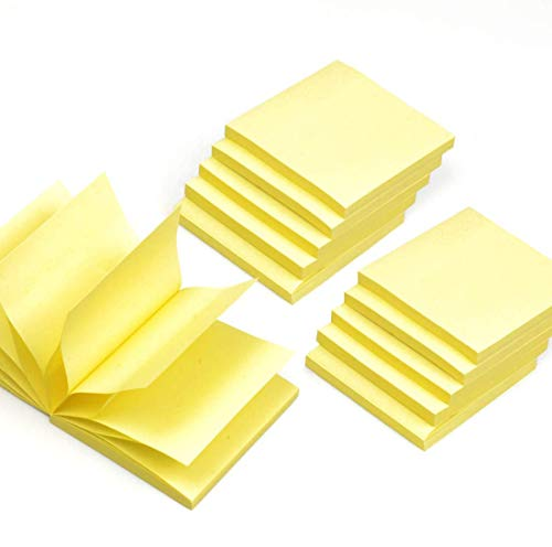 Pop Up Yellow Sticky Notes, 10 Pads/Pack Self Stick Notes 3x3 Inches Pop-up Note Refills for Dispenser, 72 Sheets/Pad