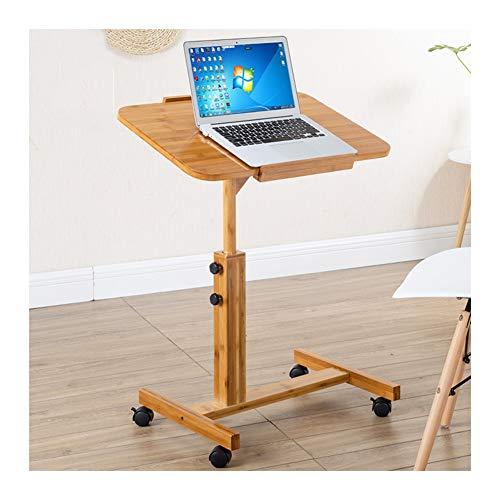 FHT Pflegetisch Laptoptisch Mit Rollen, Rolling Laptop Cart Mobiler, Einfach Zu Verstauen, Höhenverstellbar Mit Rollen Beistelltisch Notebooktisch (Size : 40x60(94-62) cm)