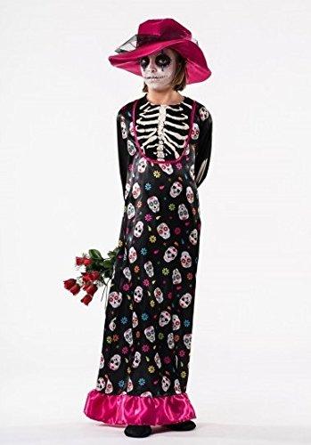 El Rey Del Carnaval - Disfraz De Catrina Para Niña Talla 8 A 10 Años