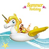 Miacooo Giant Unicorn Swimming Pool Float Inflatable Water Pool Lounger Unicorn Pool Party Raft Tube with Summer Outdoor Swimming Decorations Toys Inflatable Animal Pool Toys