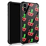 ZHEGAILIAN iPhone XR Case,Fluorescent Cherry iPhone XR Cases for Girls/Boys,UNBreak Reinforced Corners Fashoin Back Cover Soft TPU Bumper Frame Full Body Case Designed for iPhone XR Bright Vitality