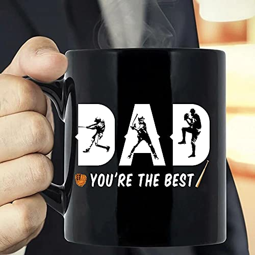 Situen Dad You're The Best, Baseball Dad Coffee Mug - The Funny Coffee Mugs For Halloween, Holiday, Christmas Party Decoration 11-15 Ounce Cettire