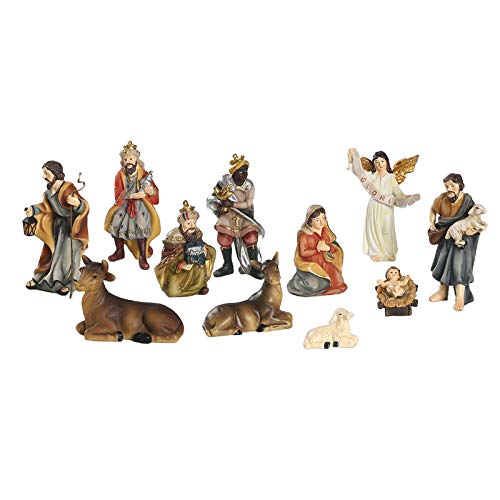 Hellery Traditional Christmas Nativity Scene Figurines Decorations Set of