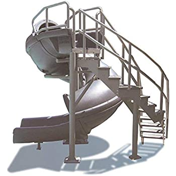 S.R. Smith 695-209-43 Vortex Full Tube with Stairs Pool Slide, Blue