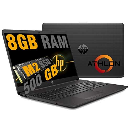 Notebook HP 255 G8 Pc portatile,Display HD 15.6 ,New Cpu Amd Dual Core Athlon 3020,Fino a 2,60 GHz,Ram 8 GB DDR4 ,SSD M.2 Nvme 500 Gb, Bluetooth, WIFI,Porta Lan RJ-45,Windows 10 Pro Pronto All uso