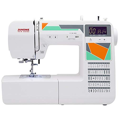 Janome MOD-50 Computerized Sewing Machine with 50 Built-in Stitches, 3 One-Step Buttonholes, Drop Feed and Accessories