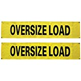 VULCAN Oversized Load Banners For Escort Vehicles (Solid), 2 Pack - 12 Inch x 60 Inch