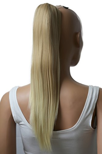 PRETTYSHOP 50cm Haarteil Zopf Pferdeschwanz Haarverlängerung Glatt Blond Mix H77a