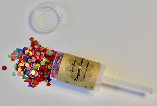 Die Gudn wiederbefüllbare Konfetti Kanönle (4 Stück/Confetti-Push-Pop/Konfettikanone/Popper/Konfettibombe) für jeglichen Anlass (Hochzeit, Geburtstag, Silvester und sonstige Partys)