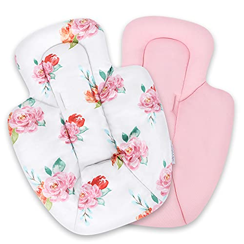 Infant Insert - Compatible with 4Moms RockaRoo and MamaRoo - Breathable Cool Mesh Fabric - Plush Soft Newborn Insert with Head and Body Support