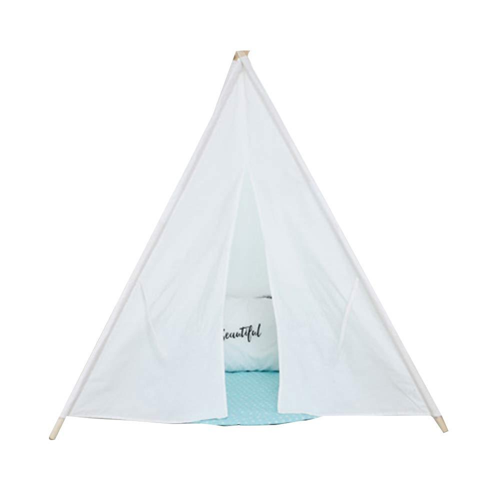 Teepee para niños Juega Teepee Tienda de campaña para niños Tela de algodón Tienda de Interior Tipi para Exteriores para niños, niñas, Indios, Interior, Tipi (Blanco): Amazon.es: Hogar