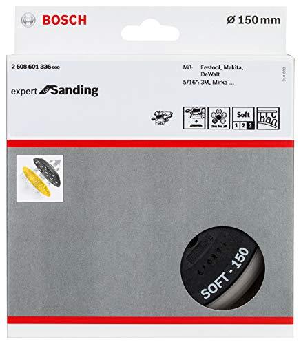 Bosch Professional Multi-Loch Schleifteller (Ø 150 mm, weich, Klett, Zubehör Exzenterschleifer)