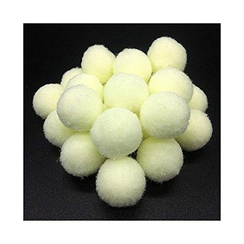YVCHEN Fluffy Soft Pompom Plush Pom Poms Ball Pompones Handmade Sewing Craft Kids Toy Wedding Decor (Color : White, Size : 20mm 36pcs)