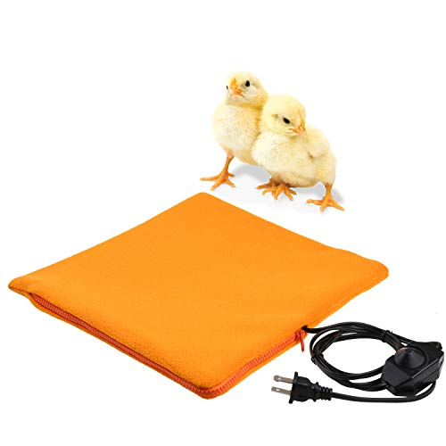 YUYUSO Chicken Heated Pad with Cozy Fleece Cover for Chick Brooder Chick Coop Heater Cage Heating Plate
