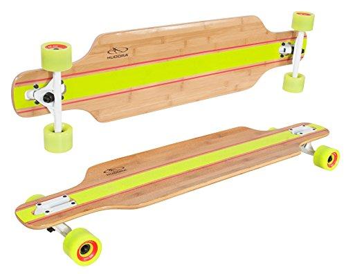 HUDORA Longboard Point Loma, schwarz - ABEC 7 - Skateboard - 12819