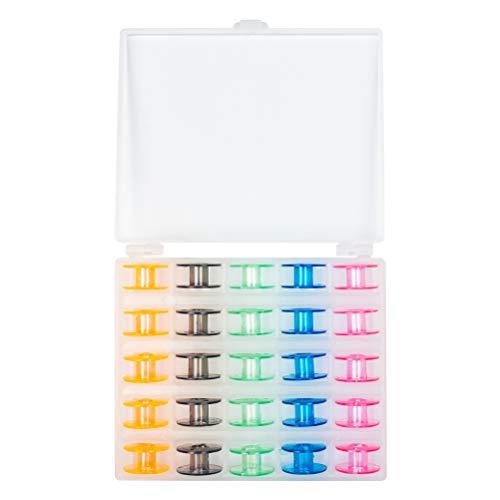 WIFUN 25 Pcs Sewing Machine Bobbins, Plastic Color Sewing Machine Bobbins...