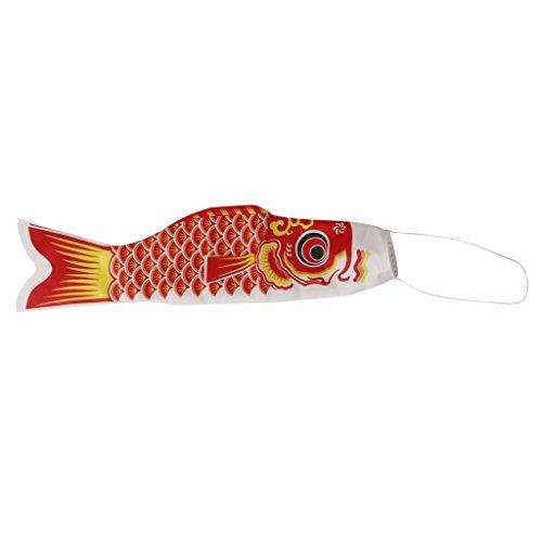 70cm Windsack Karpfen Flag Koinobori Segelfisch Fischwind Streamer Rot