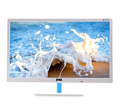 RAPLANC 24-Zoll-HD-Ultra-Thin-LED-Monitor, HDMI- und VGA-Eingänge, Verstellbarer Standfuß, flimmerfreier, dünner Rahmen für EIN optimales Benutzererlebnis