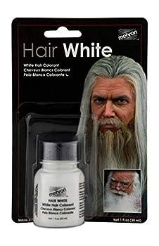 Mehron Makeup Hair White with Brush  1 oz