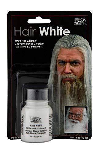 Mehron Makeup Hair White with Brush (1 oz)