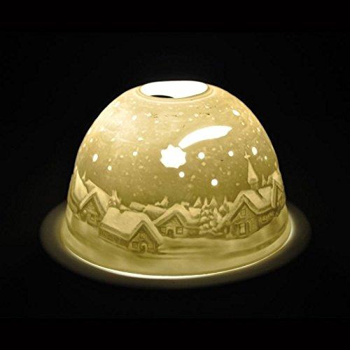 Hellmann Versand, Starlight-Teelichthalter mit Lithophanie-Zierelement Sternschnuppe 228