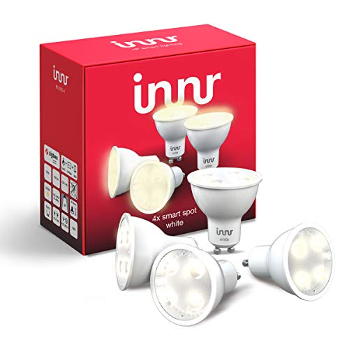 Innr GU10 Smart LED Spot, warmweißes Licht, dimmbar, kompatibel mit Philips Hue* und Echo Plus (RS 225-4)