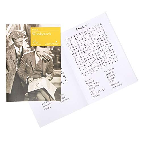 Active Minds Word Search | Large Print and Easy to Read Searches to Challenge the Brain for Seniors and Elderly with Dementia and Memory Loss