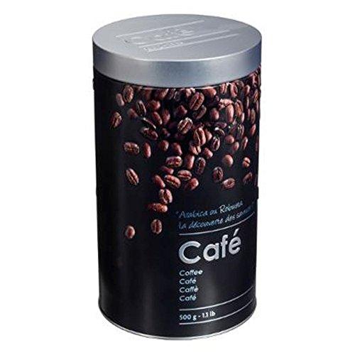 Boite alimentaire - Relief II - café - 19 x 11 cm - Fer et étain - Noir
